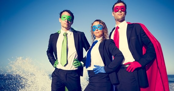 Superhero Business People image