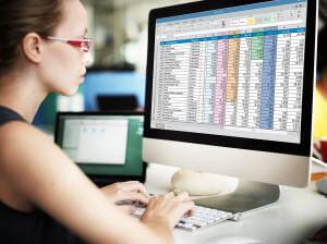 Spreadsheet Document Information Financial Start up Concept